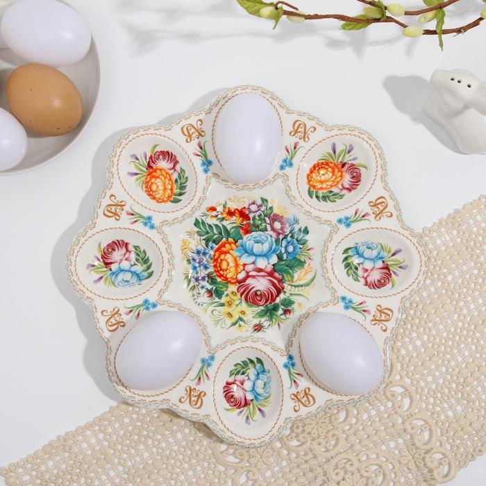 Пасхальная подставка на 8 яиц «Жостово»