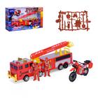 Набор пожарных «Огнеборцы»: с машиной и мотоциклом