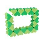 Головоломка «Змейка», сердечки, 25 см, цвет зелёный