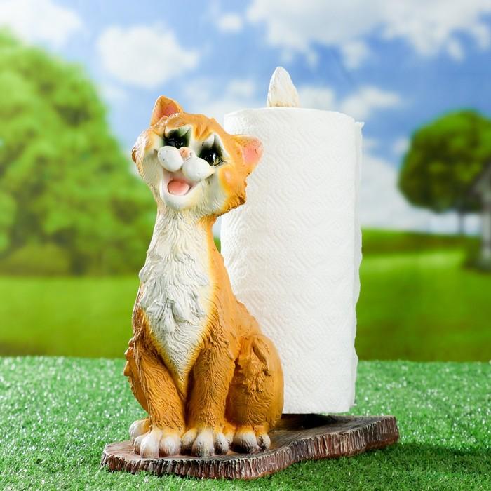 """Подставка для бумажного полотенца """"Кот"""" 30х15х25см"""