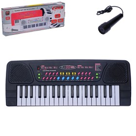 Синтезатор «Музыкальная пауза» с микрофоном, 37 клавиш
