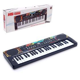 Синтезатор «Учимся играть» с микрофоном, 49 клавиш