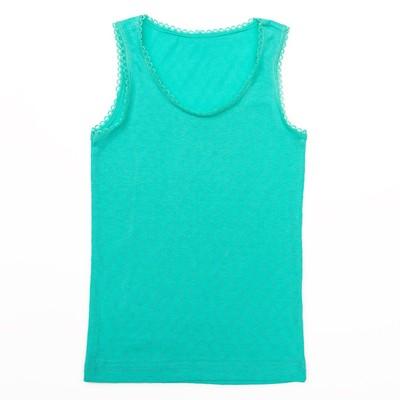 Майка для девочки, рост 116 см, цвет зелёный 119б