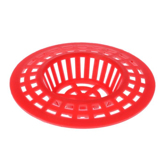 Фильтр-сеточка для раковины 60 мм, цвет МИКС