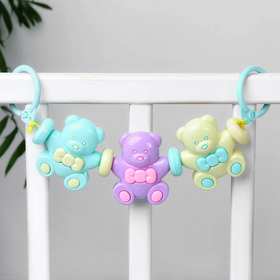 Растяжка на коляску/кроватку «Медвежата», 3 игрушки