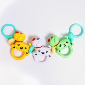 Растяжка на коляску/кроватку «Собачки», 3 игрушки