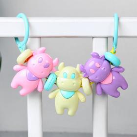 Растяжка на коляску/кроватку «Коровки», 3 игрушки