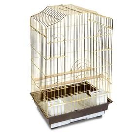 Клетка Triol  N 6112 для птиц, золото, 46.5*36*71 см