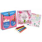 """Подарочный набор """"Рюкзак классной девчонки"""": анкета для девочек в твёрдой обложке с наклейками и карандаши, 6 шт"""