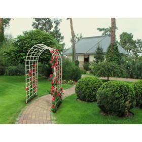 Арка садовая, 210 × 120 × 65 см, пластик, белая, «Ладога»