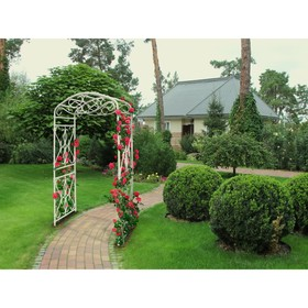 Арка садовая, 210 × 130 × 65 см, пластик, белая, «Петербург»
