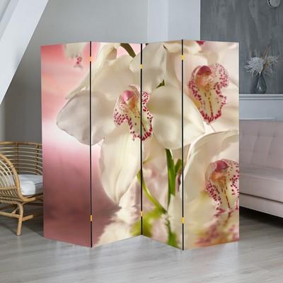 "Ширма ""Орхидея. Айвори"", 200 × 160 см"