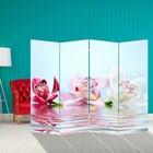 """Ширма """"Орхидеи на воде"""" 200 × 160см"""