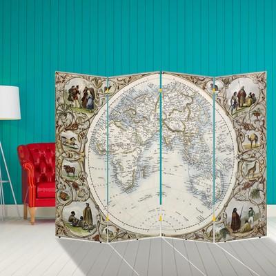 """Ширма """"Карта мира. Первооткрыватели"""", 200 × 160 см"""