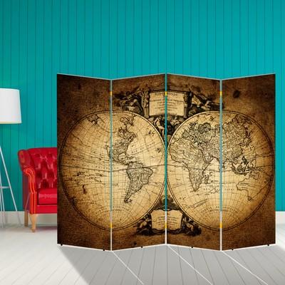"""Ширма """"Старинная карта мира"""", 200 × 160 см"""