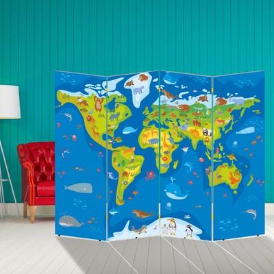 """Ширма """"Животные планеты Земля"""", 200 × 160 см"""