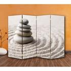 """Ширма """"Камни на песке"""" 200 × 160см, двухсторонняя"""