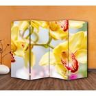 "Ширма ""Орхидеи"" 200 × 160см, двухстороняя"