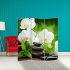 """Screen """"White Orchid"""", 160 × 150 cm"""