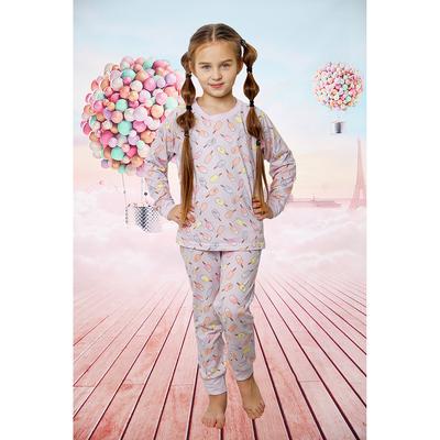 Комплект детский Пломбир Лайт, рост 140 см, цвет сиреневый ДП-001
