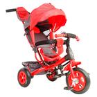 """Велосипед трехколесный Лучик Vivat 1, надувные колеса 10""""/8"""", цвет красный"""