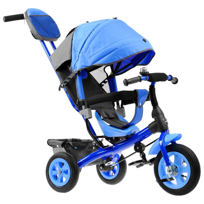 """Велосипед трёхколёсный «Лучик Vivat 1», надувные колёса 10""""/8"""", цвет синий"""