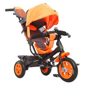 """Велосипед трёхколёсный «Лучик Vivat 1», надувные колёса 10""""/8"""", цвет оранжевый"""
