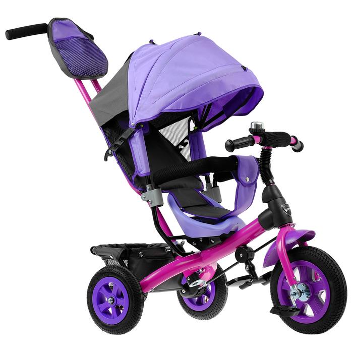 """Велосипед трёхколёсный «Лучик Vivat 1», надувные колёса 10""""/8"""", цвет фиолетовый"""
