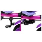 """Велосипед трёхколёсный «Лучик Vivat 1», надувные колёса 10""""/8"""", цвет фиолетовый - фото 983946"""