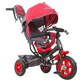 """Велосипед трёхколёсный «Лучик Vivat 1», надувные колёса 10""""/8"""", цвет бордовый"""