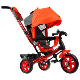 """Велосипед трёхколёсный «Лучик Vivat 2», колёса EVA 10""""/8"""", цвет красный"""