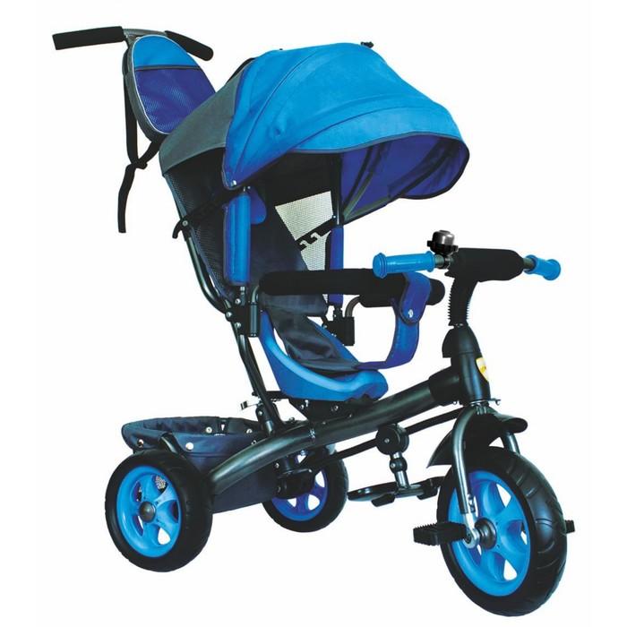 """Велосипед трёхколёсный «Лучик Vivat 2», колёса EVA 10""""/8"""", цвет синий"""