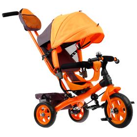 """Велосипед трёхколёсный «Лучик Vivat 2», колёса EVA 10""""/8"""", цвет оранжевый"""