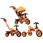 """Велосипед трёхколёсный «Лучик Vivat 2», колёса EVA 10""""/8"""", цвет оранжевый - фото 105546915"""