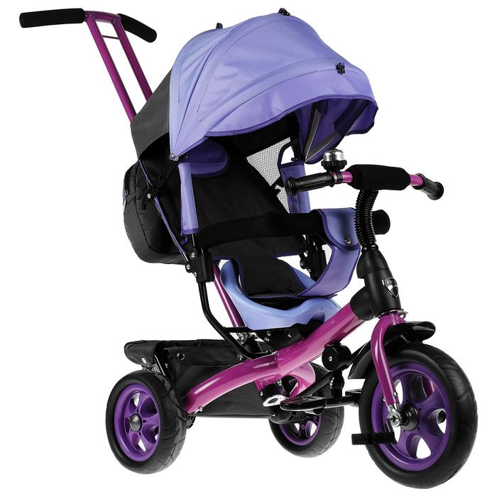 """Велосипед трёхколёсный «Лучик Vivat 2», колёса EVA 10""""/8"""", цвет фиолетовый"""