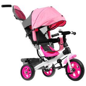 """Велосипед трёхколёсный «Лучик Vivat 2», колёса EVA 10""""/8"""", цвет розовый"""