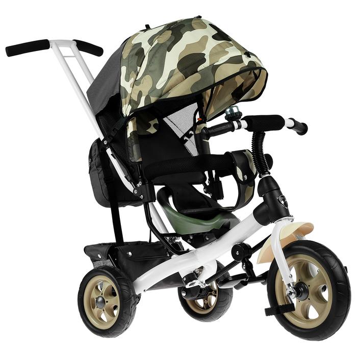 """Велосипед трёхколёсный «Лучик Vivat 2», колёса EVA 10""""/8"""", цвет хаки"""