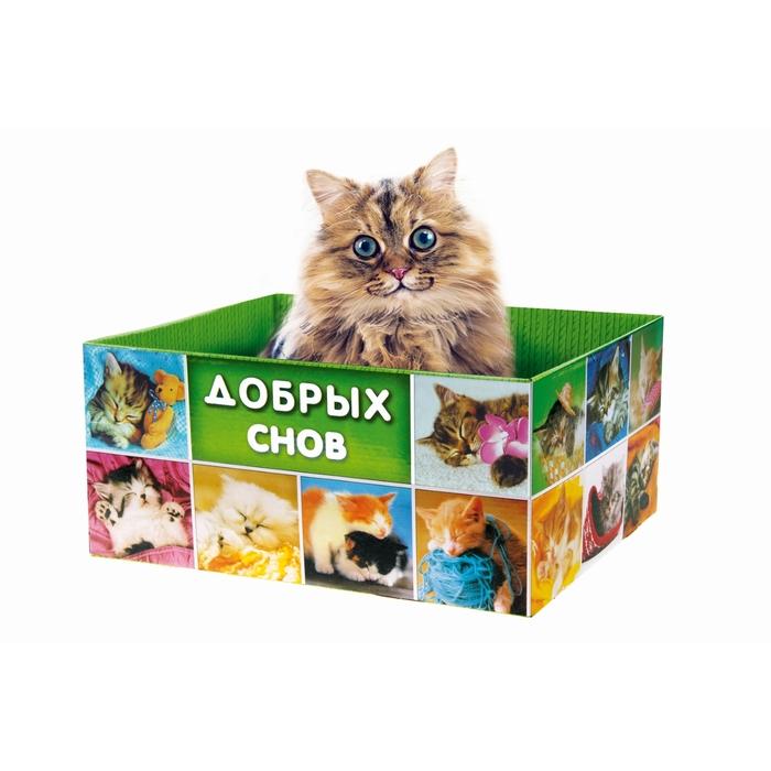 """Домик-коробка с матрасом """"Добрых снов"""", открытая"""