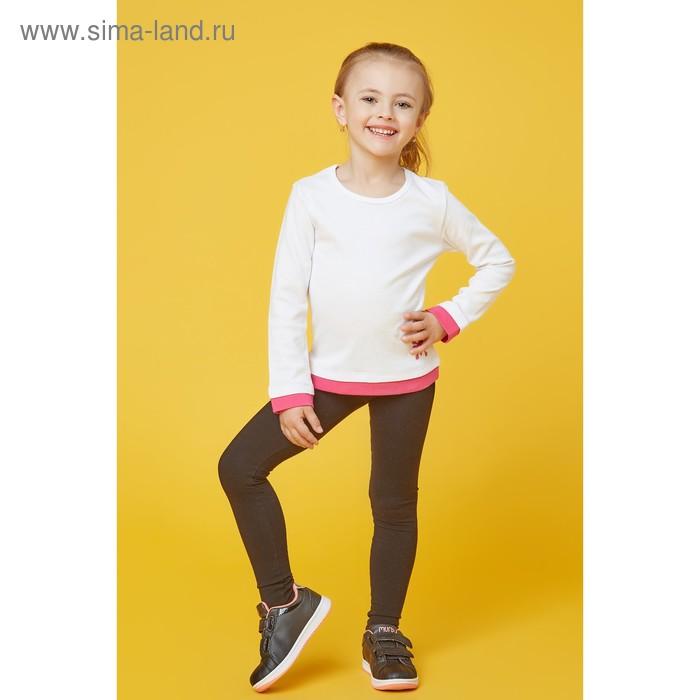 Футболка для девочки, рост 122 см, цвет  цвет белый/розовый Н-ФТ-264А