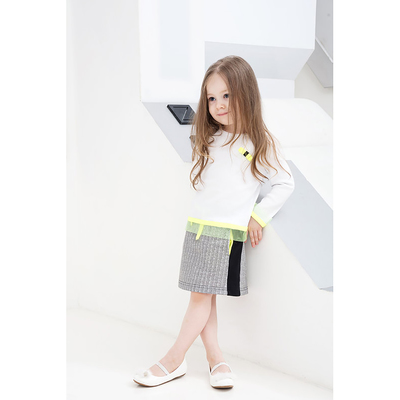 Юбка для девочек, рост 92 см, цвет  цвет серый/чёрный Н-ЮБ-274_М