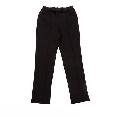 Брюки для девочки , рост 140 см, цвет чёрный
