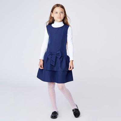 Сарафан для девочки ,  рост 128-134 см, цвет синий ШФ 0039