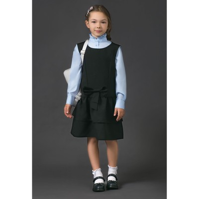Сарафан для девочки , рост 122-128 см, цвет чёрный