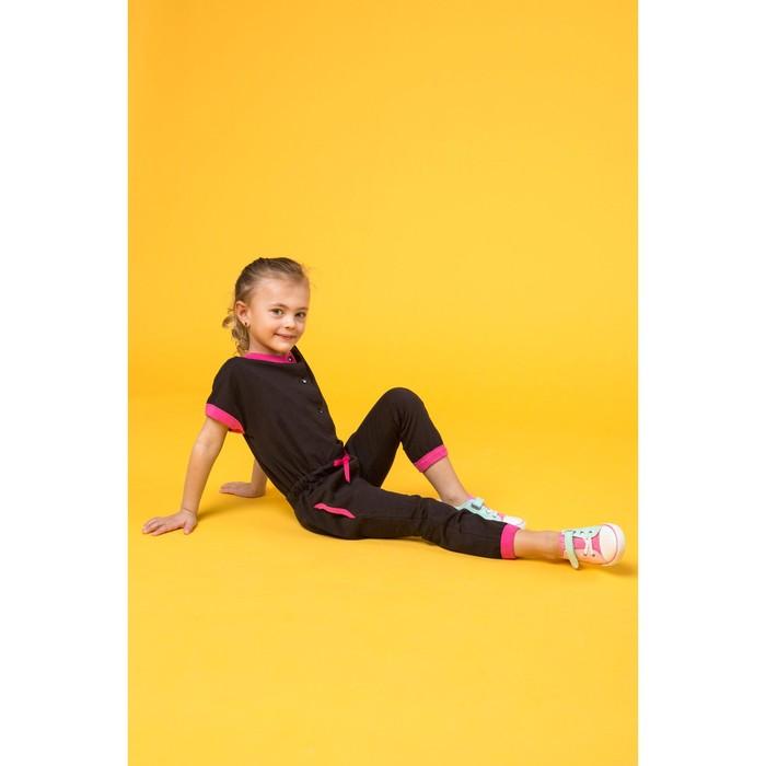 Комбинезон для девочки, рост 104 см, цвет  цвет чёрный Н-КБ-284