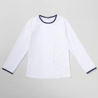 Блузка для девочки , рост 122-128  см, цвет белый ШФ 0043