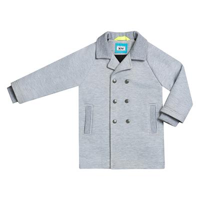 Пальто для мальчика, рост 104 см, цвет  цвет серый/бирюзовый Н-ПТ-280А
