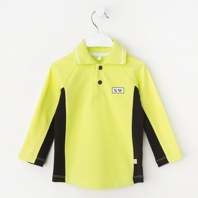 Рубашка-поло для мальчика, рост 92 см, цвет  цвет лимонный/чёрный Н-РБ-277А_М