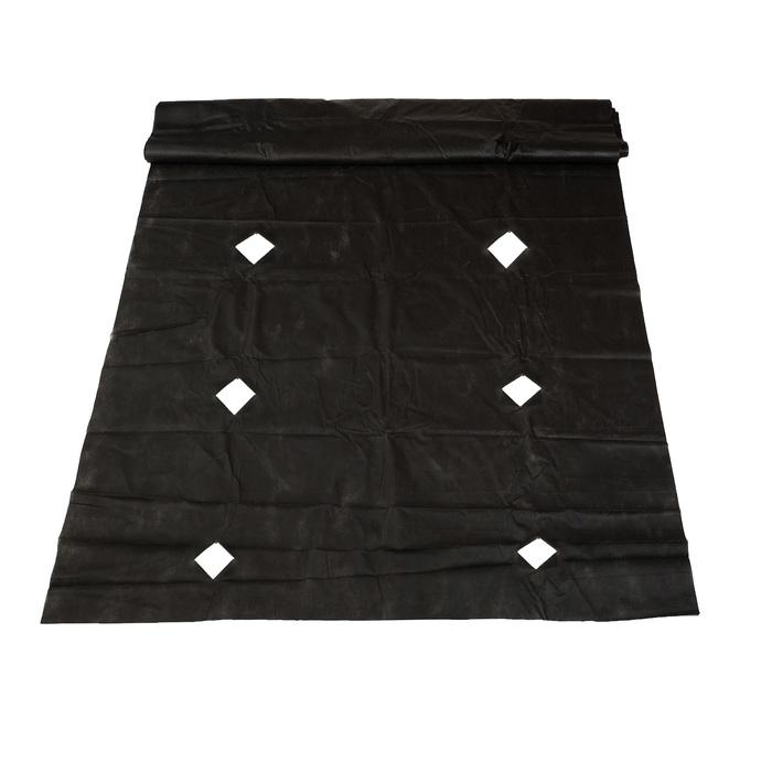 Материал мульчирующий, с перфорацией, 10 × 1,6 м, плотность 60, с УФ-стабилизатором, чёрный, «Агротекс»