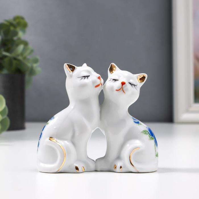 """Сувенир """"Два котёнка в цветочек"""""""
