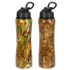 """Бутылка для воды """"Осенний лес"""", 800 мл, с трубкой, на защёлке, микс картинок, 7.5х27 см"""